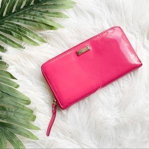 KATE SPADE Women's Hot Pink Divider Wallet